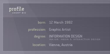 Profile: studies Information Design (major Media and Interaction Design)